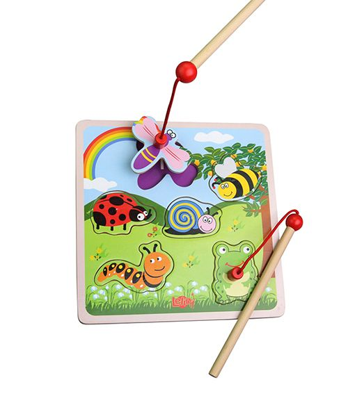 Magnetic Bugs Puzzle From Lelin from The Wooden Toybox