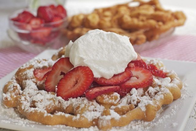 easy funnel cake recipe | recipes/foods | Pinterest