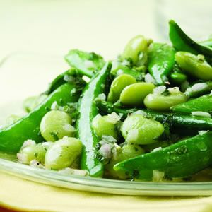 Lemon-Mint Snap Peas & Lima Beans - Tons of Vegetable Side Dishes! #fitnessmagazine
