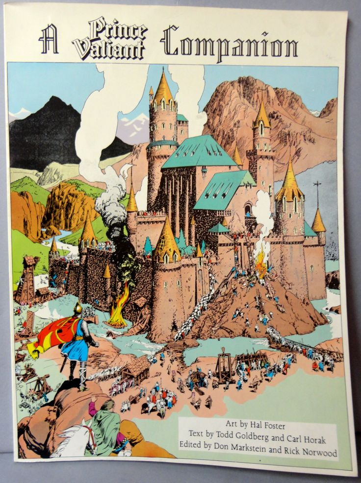 Scarce Hal Foster A PRINCE VALIANT COMPANION Plot Summaries, Art from 1937 to 1980 of the Newspaper Comic Strip Knights Camelot King Arthur