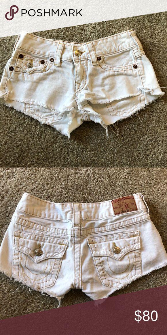White true religion 💭🗯 shorts Cute white True Religion shorts True Religion Shorts Jean Shorts
