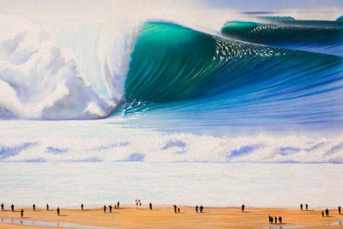 Massive Waves, Mavericks, California    photo via surfline