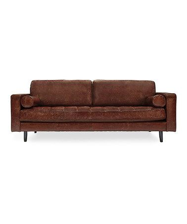 Take a look at this Brown Freeman Distressed Leather Sofa by Volo on #zulily today! $1599 !!