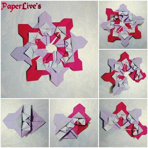 Origami Spiral Star.  My own design.