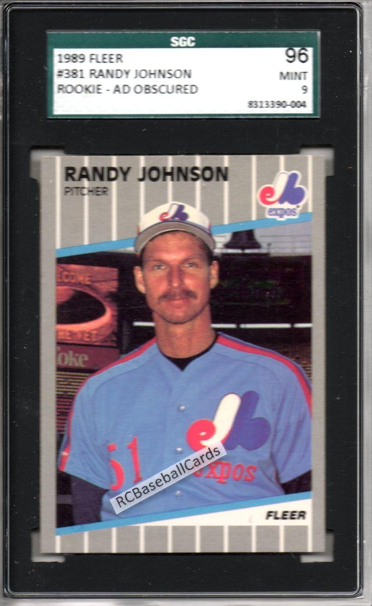 1989 randy johnson graded fleer rookie variation ser