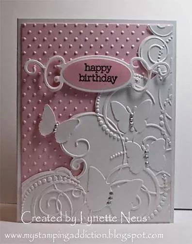 Embossed Birthday