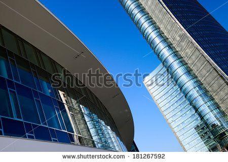 Milan city buildings - stock photo