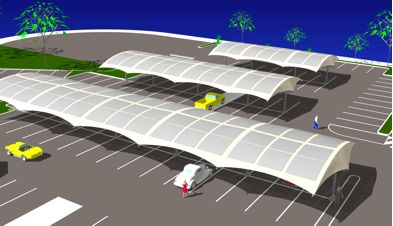 (ii) Car Park Integrated Canopies - SKYShades Australia