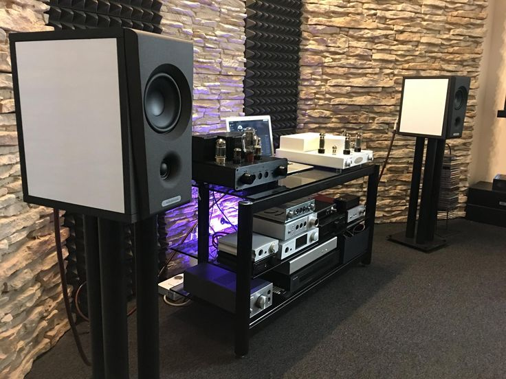 Overture O202B in audio room