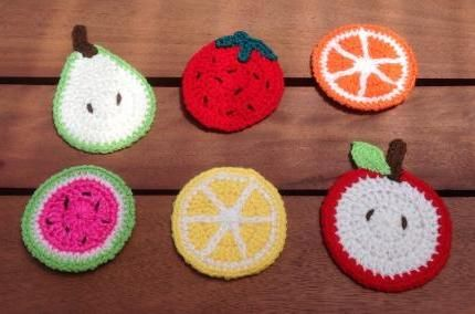 Set of crochet fruit coasters from Purple Patch Art and Crafts