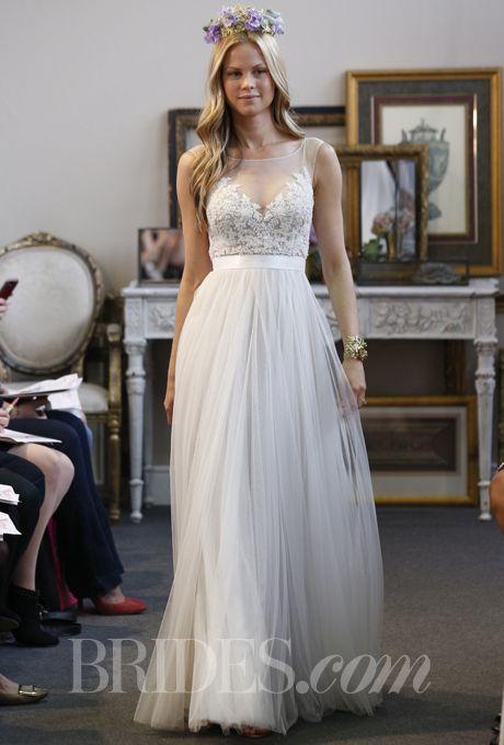 Watters - Fall 2013 - Jacinda A-Line Wedding Dress with Illusion Neckline |