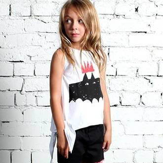 Minti Bat Queen Tie Up Singlet - White Preorders open at www.ragamuffins.co.nz