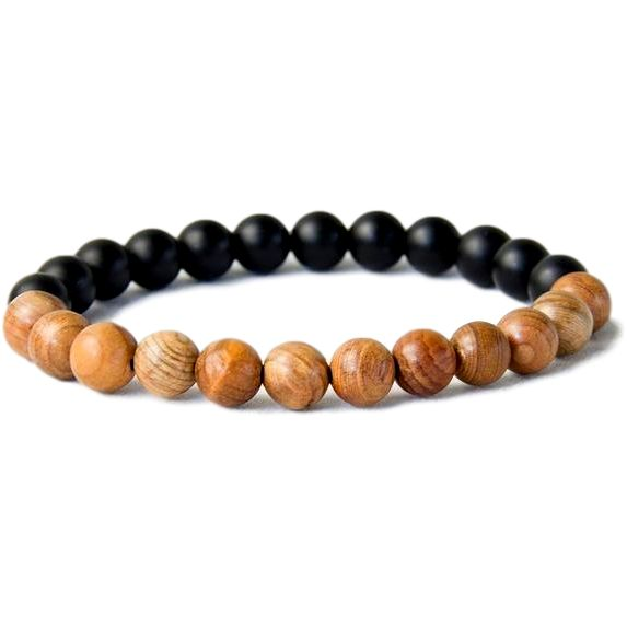 Get This NEW Natural Wood Black Matte Onyx Meditation Bead Bracelet Today Exclusively On Our Site! LIMITED TIME OFFER