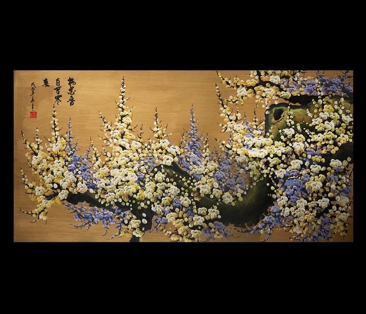 Canvas Wall Art Japanese Cherry Blossom Painting Feng Shui Painting
