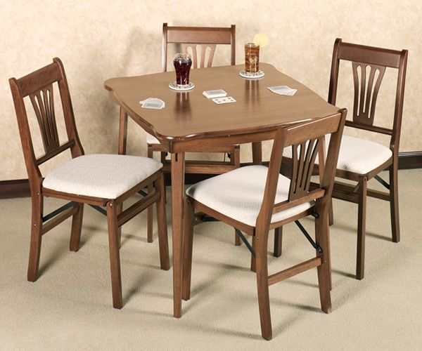 Scalloped Folding Card Table Folding Chair Table Chair