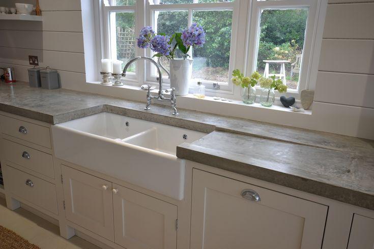 Arnolds Kitchens bespoke freestanding hand built kitchens concrete worktops cornwall.