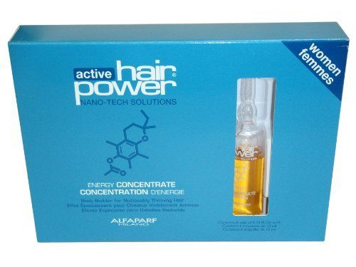 ALFAPARF Active Hair Power Energy Concentrate Women (6 X 0.33oz) by AlfaParf. Save 36 Off!. $22.25. Highest Quality Treatments available. Alfaparf Active Hair Power Energy Concentrate for WOMEN reawakens the metabolism of the hair bulb and helps combat hair follicle atrophy, activating the growing phase of the hair. Vitamin Nanospheres act as carriers of vitamin energy to promote a healthy scalp environment and rebalance hair condition. Energy Complex helps to improve the appea...