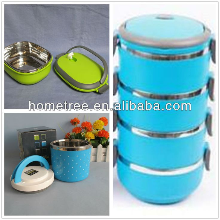 double layer thermal stackable plastic bento box stainless steel lunch box $0.5~$80