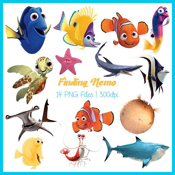 Finding Nemo Clipart, Finding Nemo Images, Finding Nemo PNG, Finding Nemo Supplies, Finding Nemo Clipart, Downloadable, DSC-019