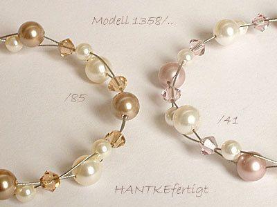 Beliebte **Kette** nicht nur zur Hochzeit - es muss ja nicht immer einfarbig sein. **Dazu passt: Armband Modell 1358/.. (Shopkategorie: Brautschmuck) Ohrhänger Modell 134/.. oder einfache...