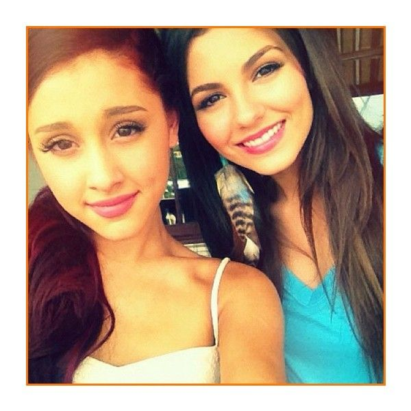 Ariana Grande And Victoria Justice Have Fun In Orlando, Florida On... ❤ liked on Polyvore