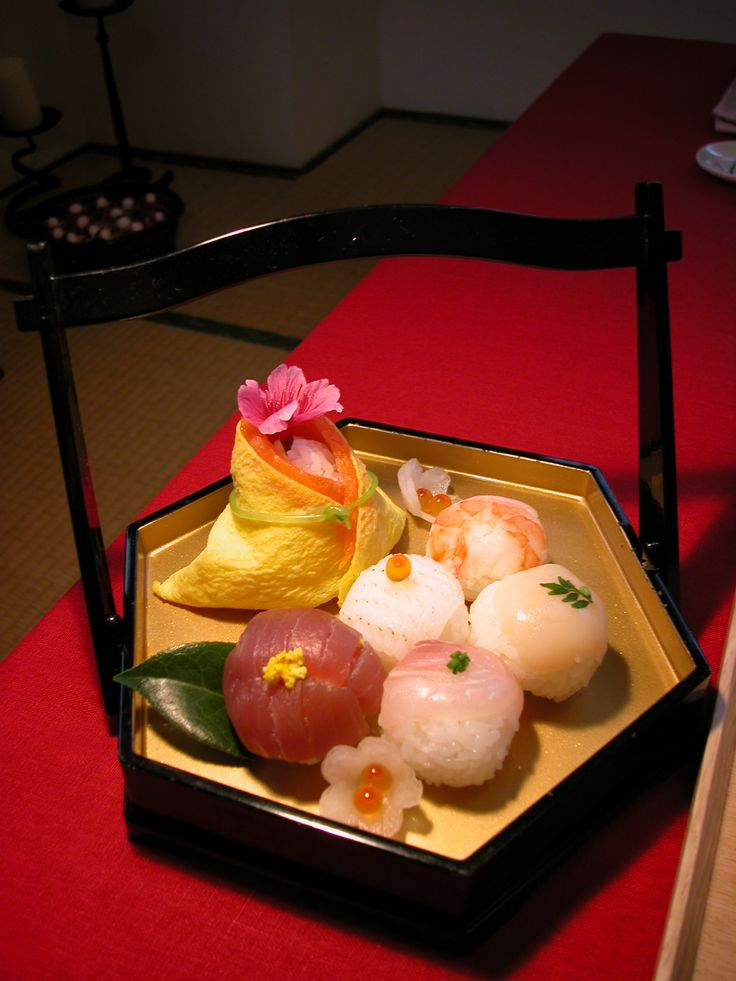 "Japanese ""sushi"" for ""Hinamatsuri"". Hinamatsuri is a festival for girls."