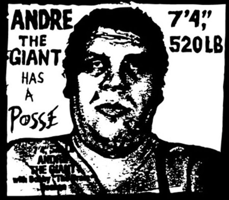 Andre the Giant Has a Posse Shepard Fairey ink stencil 1989