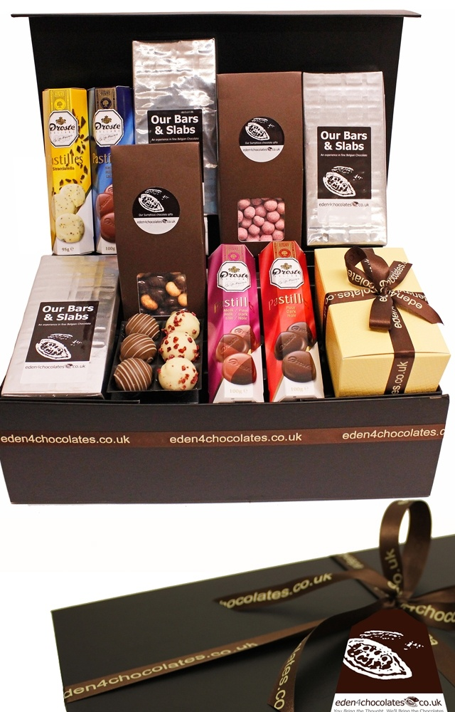 Our delicious Pure Chocolate Hamper is a great gift for Christmas