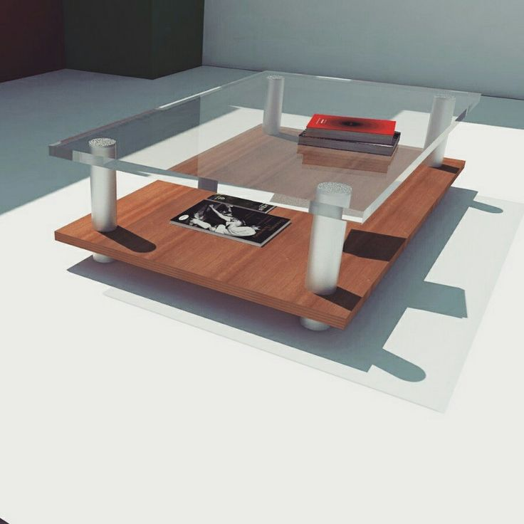 #Sketchup #Vray table #Glass and #Wood