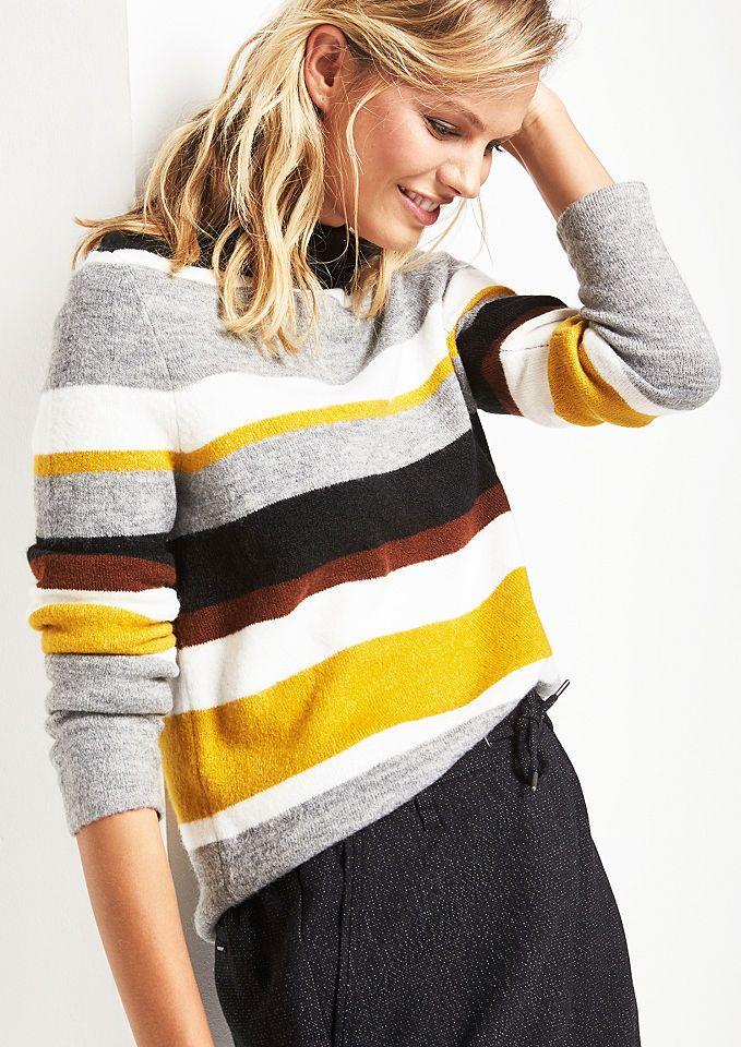 COMMA Weicher Strickpullover mit Streifenmuster Jetzt bestellen unter: https://mode.ladendirekt.de/damen/bekleidung/pullover/sonstige-pullover/?uid=81a18139-e090-55d8-a746-65aea81835a9&utm_source=pinterest&utm_medium=pin&utm_campaign=boards #sonstigepullover #pullover #bekleidung