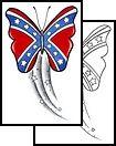 butterfly Tattoo Design (GJF-00472)