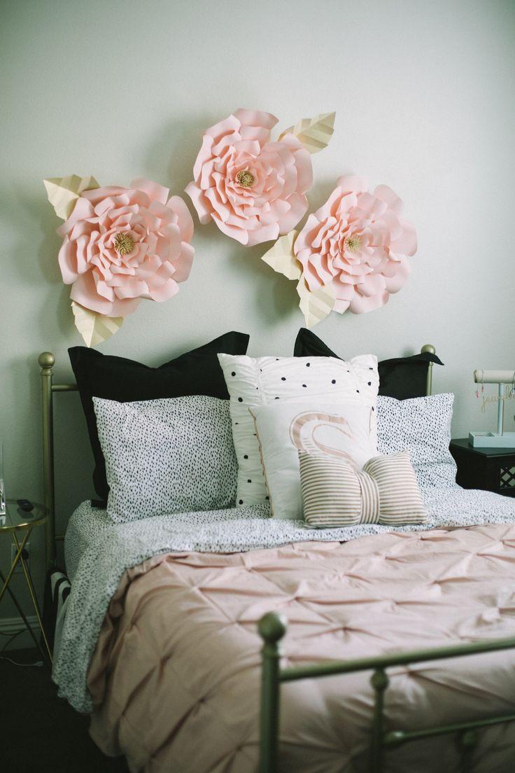 Light Pink Rose Amp Gold Teen Tween Girls Bedroom Makeover