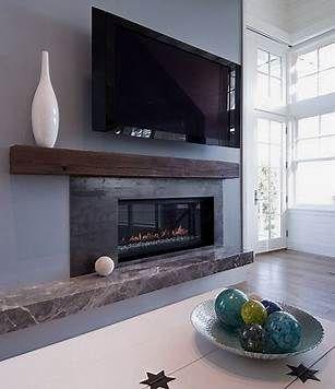 Image result for modern fireplace mantles
