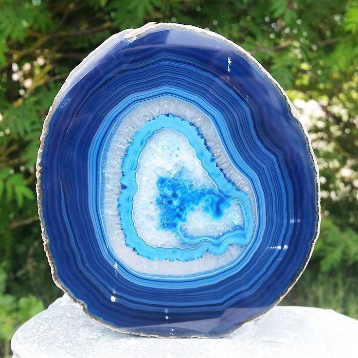 Agate Slice - Blue  http://ift.tt/29azvl9 #mineral #naturalbeauty #ukge