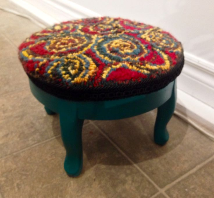 Whimsical stool for sale at Peter Street Fine Arts Gallery and Studios and At Singing heART Studios