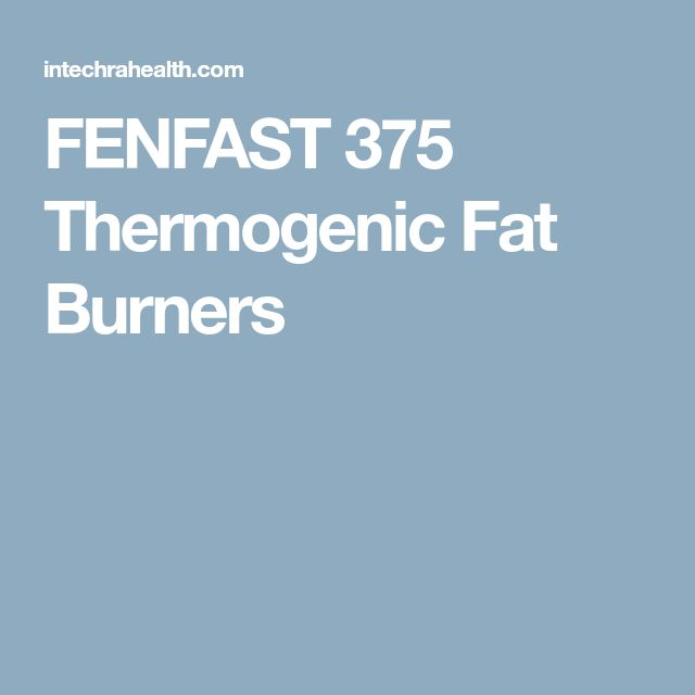 FENFAST 375 Thermogenic Fat Burners