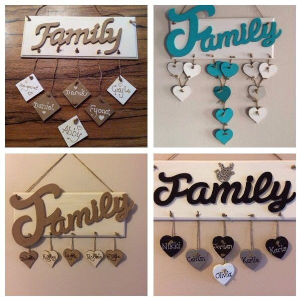 Family name plaque - The Supermums Craft Fair