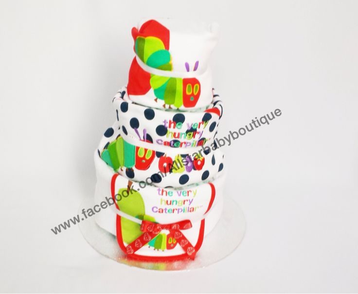 3 tier Hungry Caterpillar Nappy cake £40