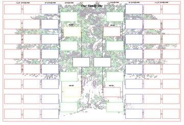 Free Blank Family Tree Template | A3 Print or Stick Family Tree Chart (Overseas)