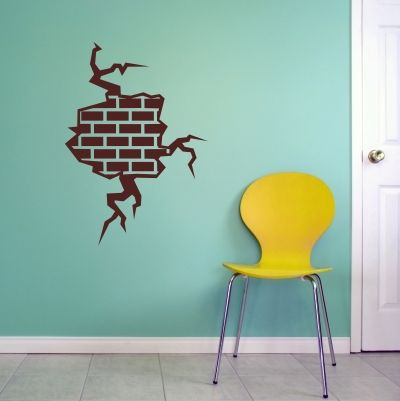 Exposed Brick Wall Decal   Sticker Part 94