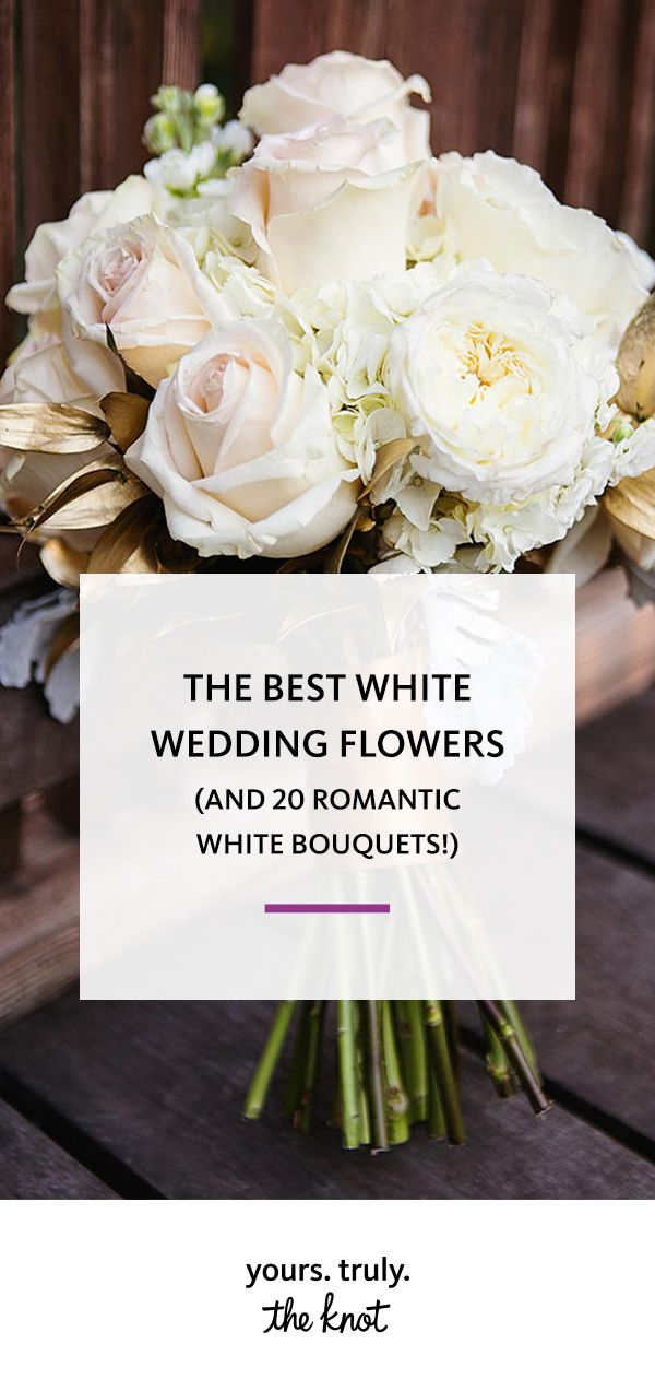 There are a lot of white wedding blooms to choose from; here are our favorite classic white bouquets.