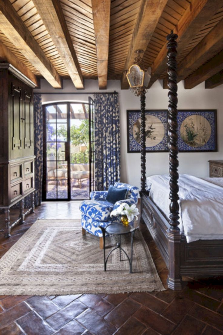 3289 best spanish style homes images on pinterest for Spanish style bedroom