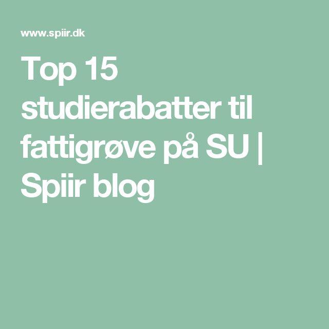 Top 15 studierabatter til fattigrøve på SU   Spiir blog