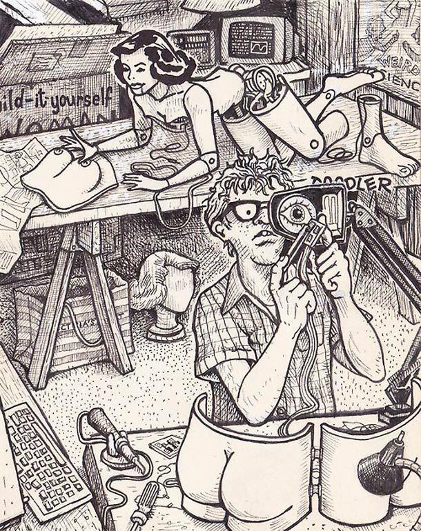 Un artiste s'amuse à détourner les pin-up des années 60
