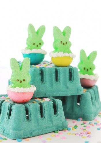 Peep stuffed Jello Shots - Easter candy for grown ups!