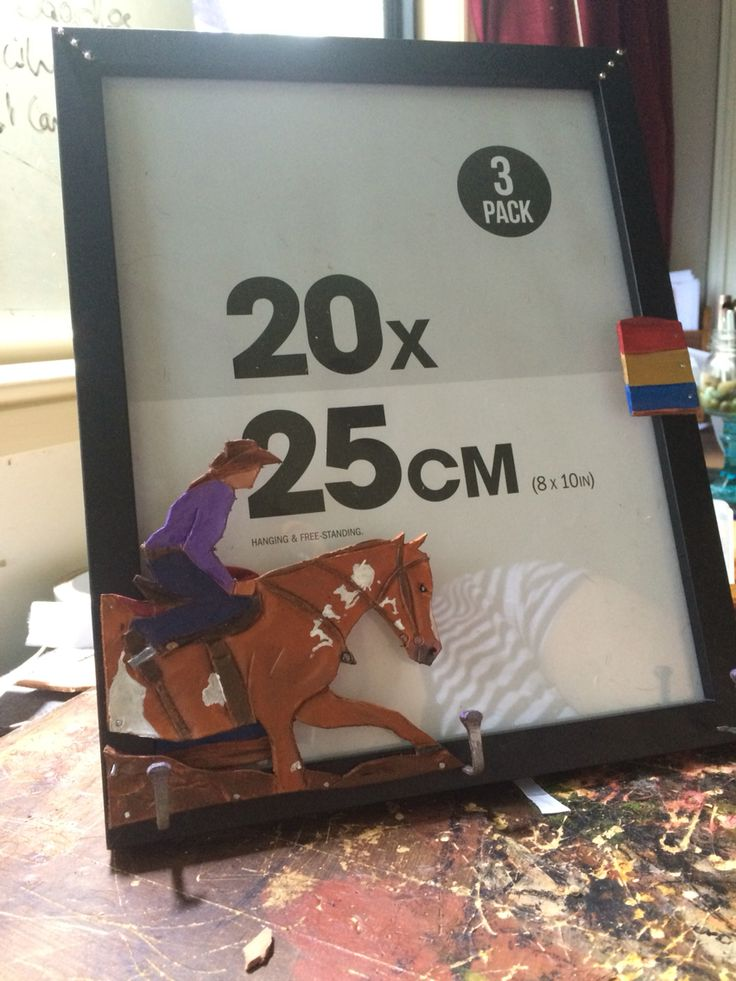 Custom made photo frame for a friend. #barrel racer #western #gift #horse #rodeo