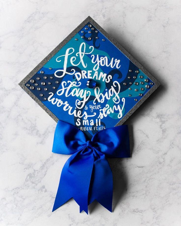 Rascal Flatts themed grad cap idea // follow us @motivation2study for daily inspiration
