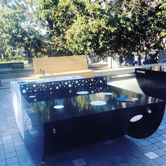 Active lunch break in Takapuna, Auckland, NZ today... ping pong anyone??
