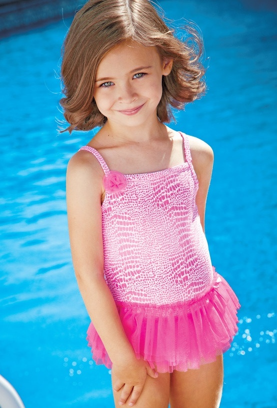 Flapdoodles Kids Swim, Little Girls Tutu One-Piece Bathing ...