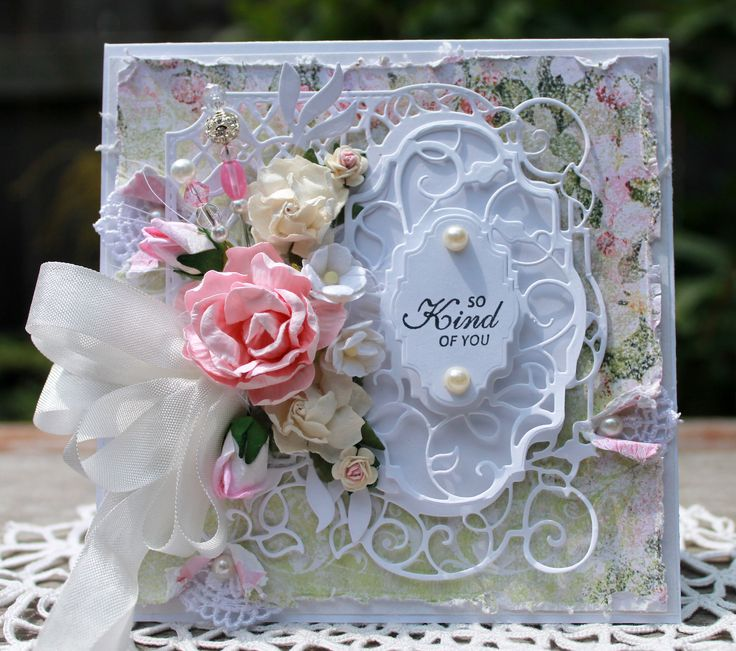 So Kind of You handmade card, OOAK card, Thank You Card, Pink Roses Card, Flower Card by HydeParkHill on Etsy